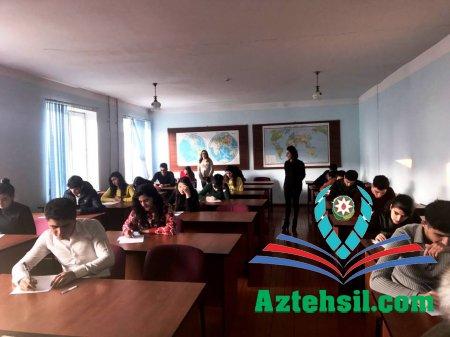 ADPU-nun Cəlilabad filialında payız semestrinin imtahanları keçirilib