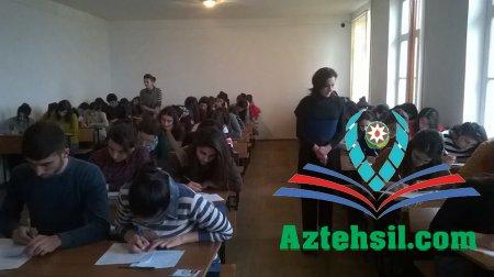 ADPU-nun Şəki Filialında payız semestrinin imtahan sessiyası davam edir
