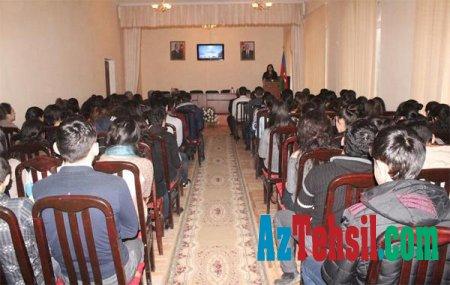 ADPU-nun Şamaxı Filialında 20 Yanvar faciəsinə həsr olunmuş tədbir keçirildi