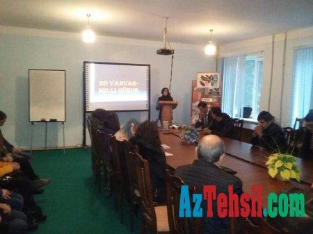 ADPU-nun Cəlilabad Filialında 20 Yanvar faciəsinə həsr olunmuş tədbir keçirilib