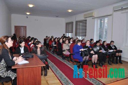 İbtidai sinif müəllimlərinin seminarı keçirilib